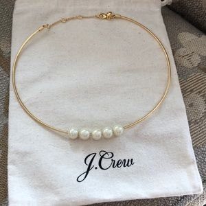 Jewelry - JCrew Pearl and Gold Necklace